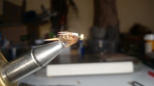 Bead head Prince nymph trout fly
