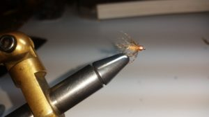 Bead head Red Fox Squirrel Tail nymph fly